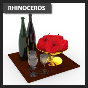Rhinoceros Modelado: modelado de frutero usando Revolución o Revolve parte 2