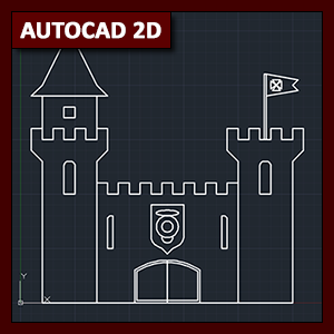 AutoCAD 2D Dibujo: dibujo básico de castillo utilizando Snap