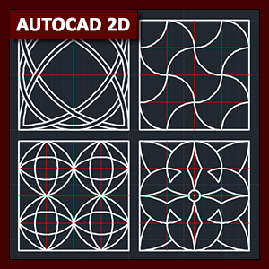 AutoCAD 2D Dibujo: dibujo básico utilizando tramados