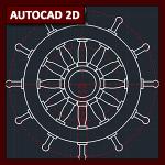 AutoCAD 2D Tutorial 04: Dibujo Avanzado (timón)