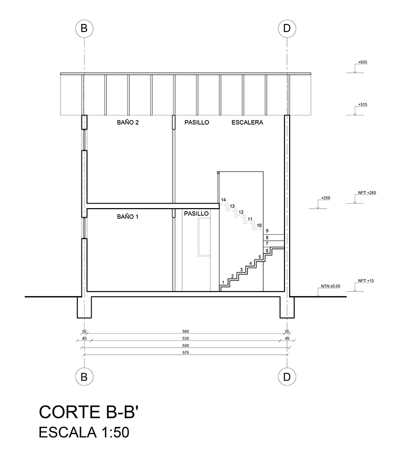 Planimetr a 02 corte de arquitectura mvblog for Programa para hacer planos sencillos