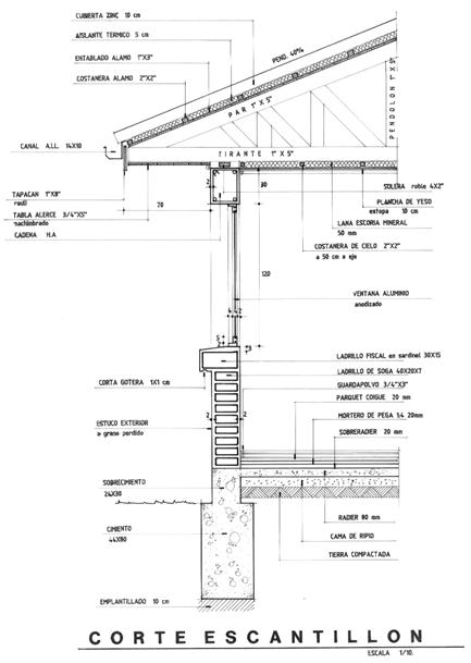 Planimetr a 02 corte de arquitectura mvblogmvblog for Piso tecnico detalle