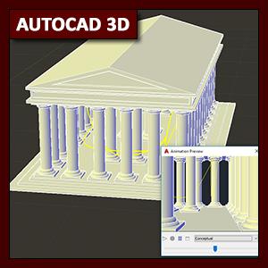 AutoCAD 3D Animación: comando Anipath (recorrido)