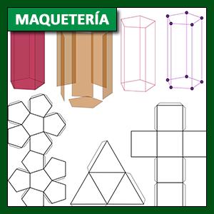 Maquetería: Poliedros, cuerpos redondos y su construcción