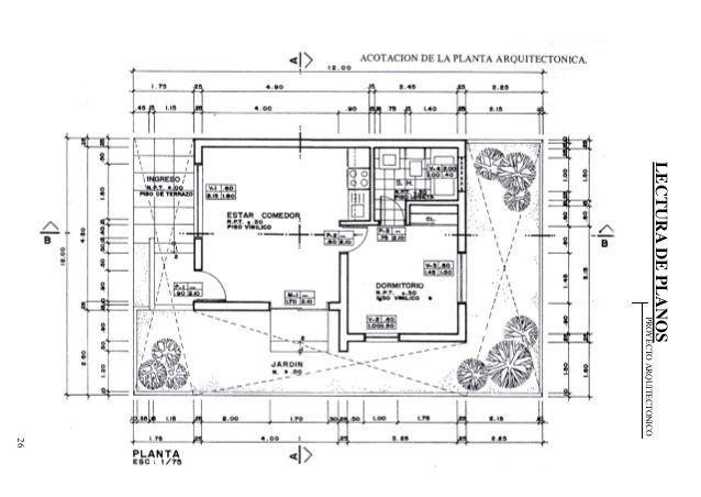 Dibujo t cnico tipos de l nea grosores y usos mvblogmvblog for Ejes arquitectonicos