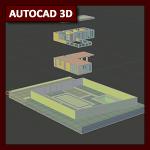 AutoCAD 3D Tutorial 14: Inserción de referencias o XREF, aplicado en 3D