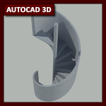 AutoCAD 3D Tutorial 15: modelado de escalera caracol utilizando Helix