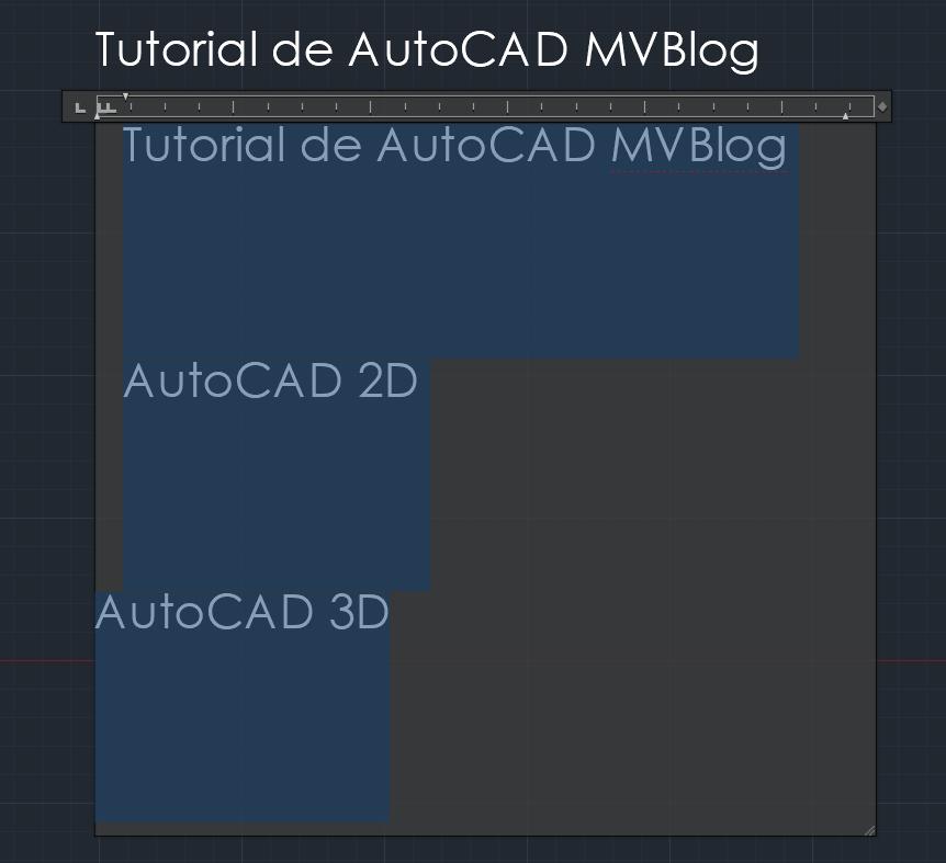 Autocad 2d Textos Uso De Texto Multiline Mvblog