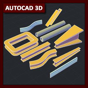 AutoCAD 3D Modelado: comando Sweep (barrido)